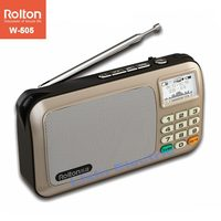 Rolton W505 Portable Radio LCD Dot Matrix Display Shows The Lyrics Support USB And Card Mini