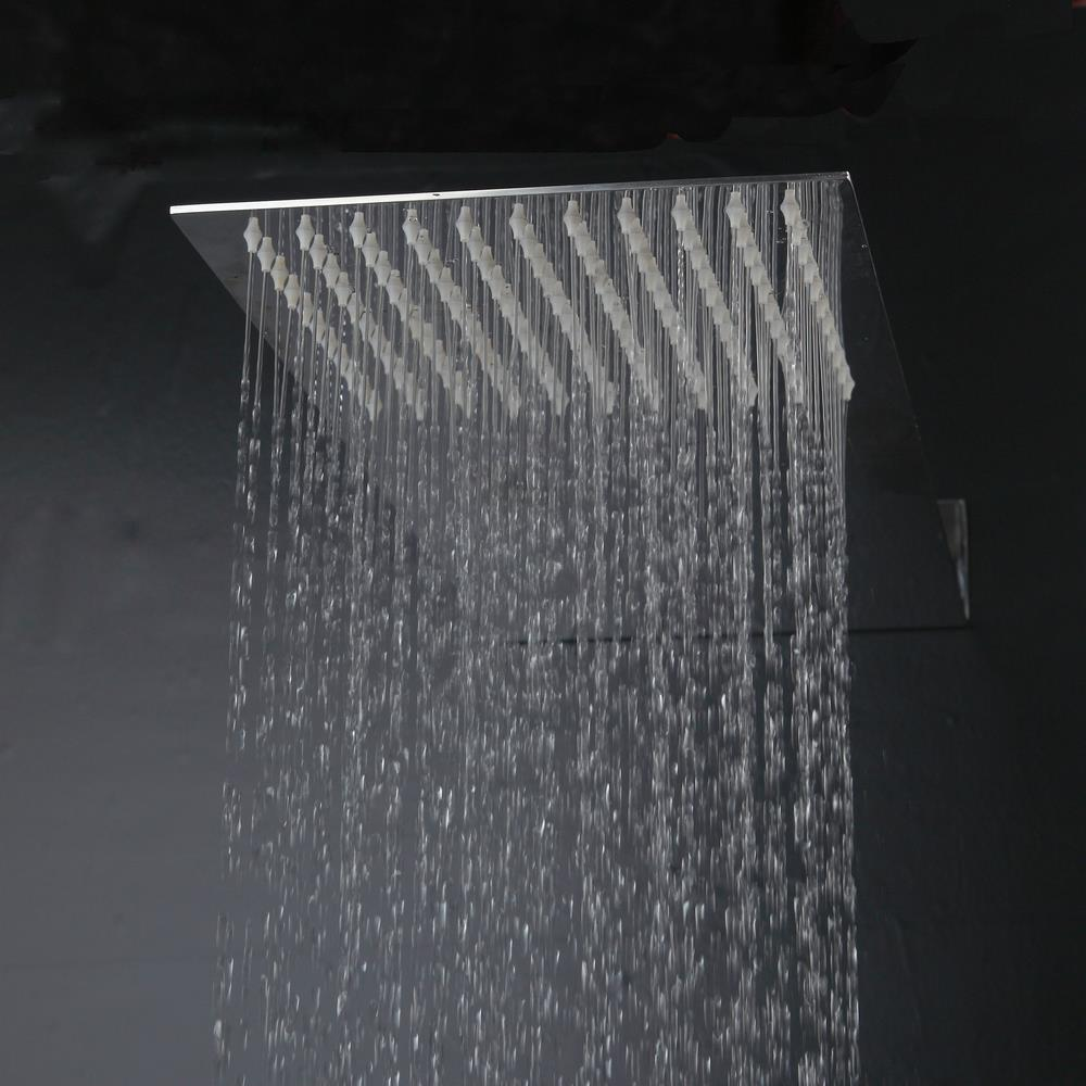 ФОТО BEST Polished Chrome Stainless Steel Ultra-thin Rainfall Shower Faucet Mixer Tap Shower Head Sprayer