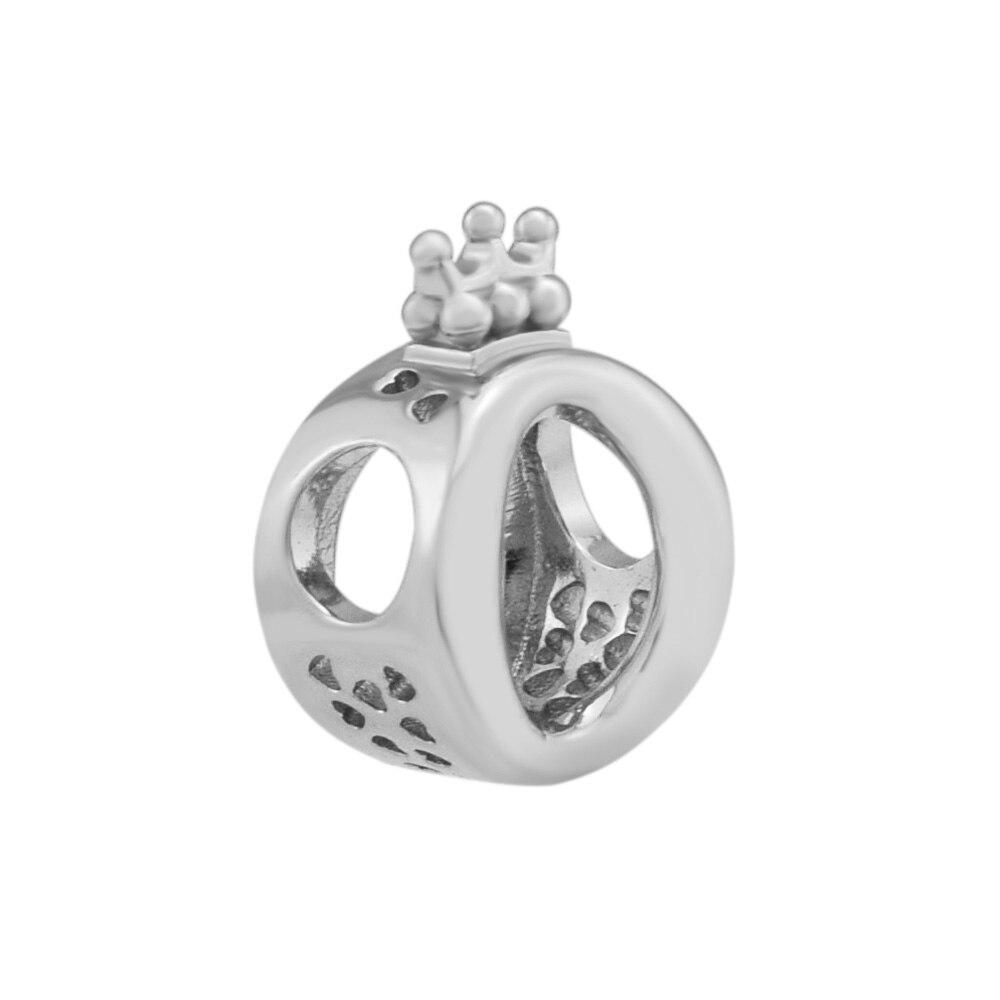 Pandulaso Argent Charme Couronne O Charm Convient Perles 925 Sterling Argent Bracelets Pour Femme DIY Charmes pour La Fabrication de Bijoux