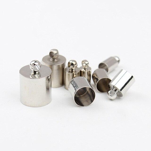 Cordon en cuir de couleur argent en métal 2 MM/3mm/4mm/5mm/6mm/8mm/10mm