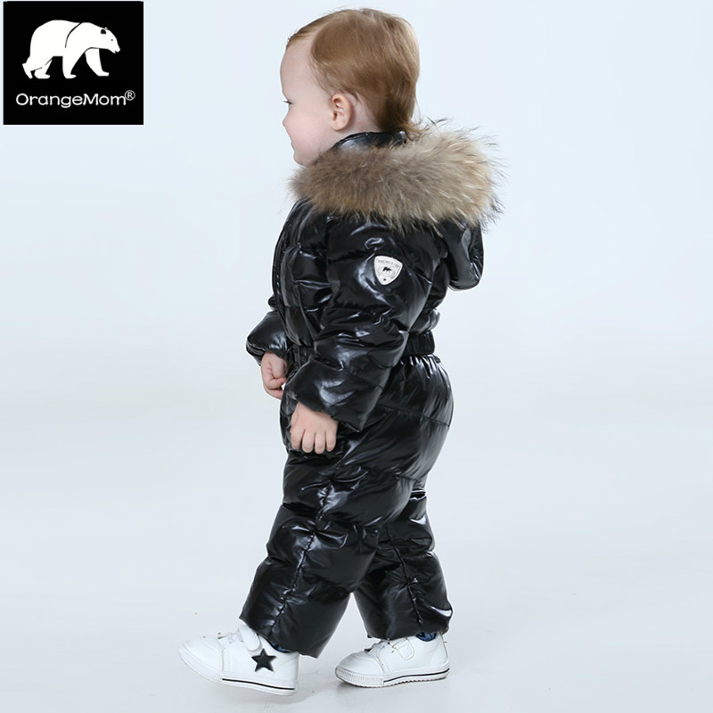 OrangeMom warm Winter down jacket children's clothing kids