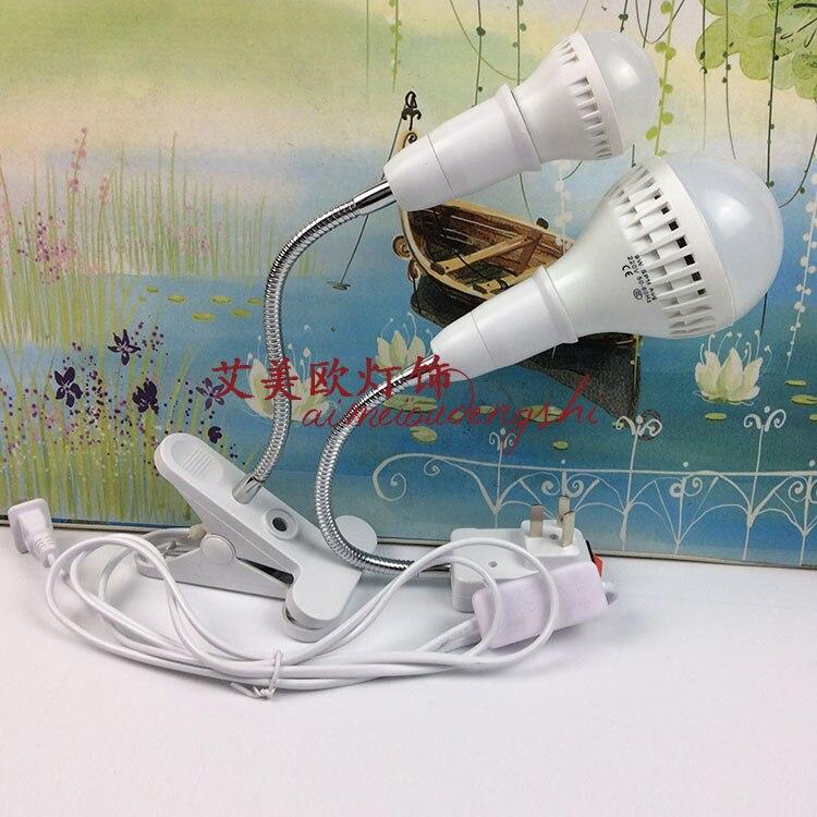 ФОТО Plug wall lamp switch clip with Nightlight bedroom bedside lamp energy-saving lamp LED universal plug and socket