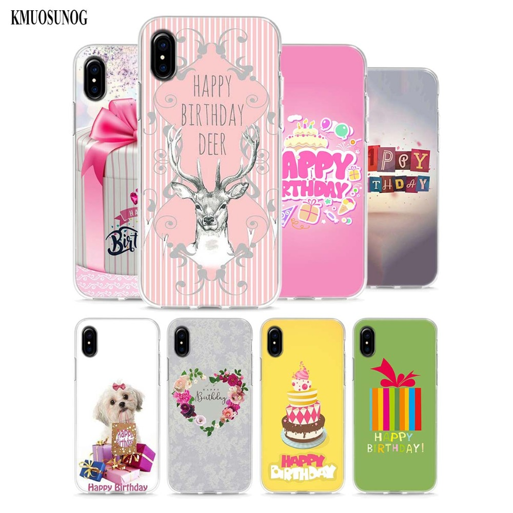 Transparent Soft Silicone Phone Cases Surprise Gift Happy