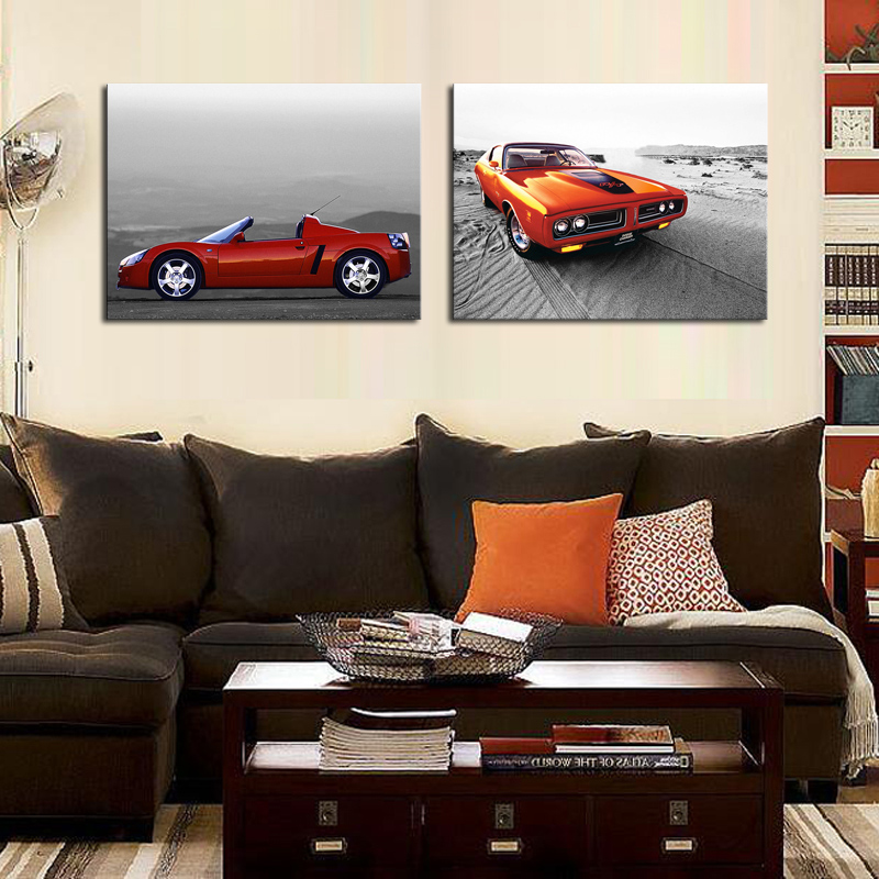 2 Board Modern Startseite Red Car Wand Dekor Leinwandbild Kunst Hd Drucker  Auf Oil Painting Canvas Painting In Painting U0026 Calligraphy From Home U0026  Garden On ...