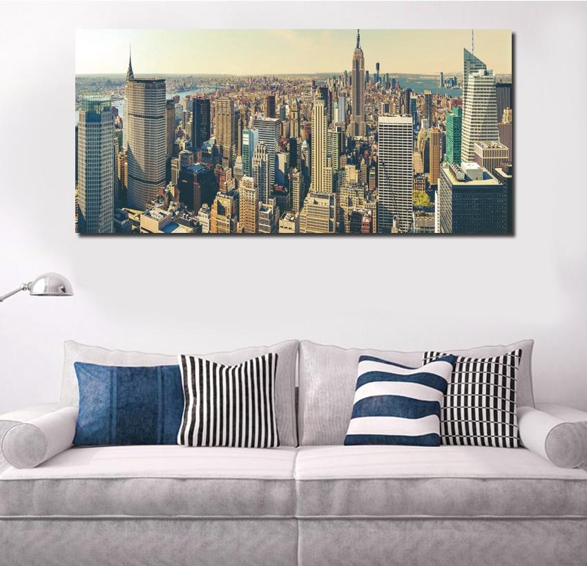 Modern New York City Canvas Set Wall Decor Living Room