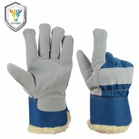 OZERO Cold Resistance Leather Gloves Outdoor Warm Cowhide Low Temperature Freezing Cold Liquid Cxygen Nitrogen Ice