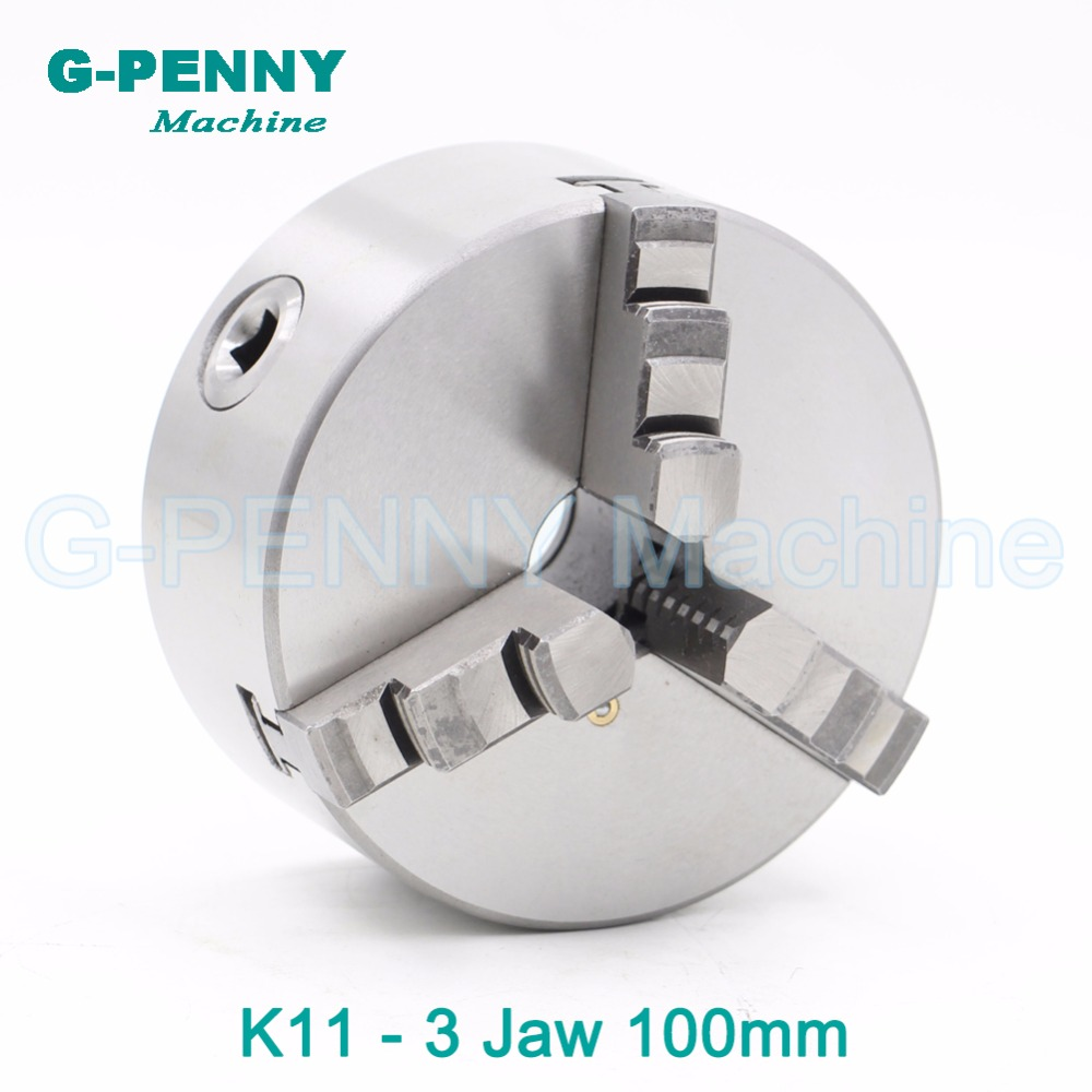 CNC 4th axis A axis 100mm 3 jaw Chuck self-centering manual chuck K11 fourth jaw for CNC Engraving Milling machine Lathe Machine fifthe 5th axis cnc dividing head a axis rotation fifth axis with chuck 3 jaw chuck cnc engraving machine