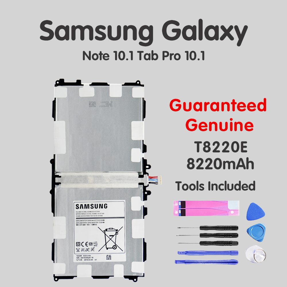 Original Tablet <font><b>Battery</b></font> T8220E For <font><b>Samsung</b></font> Galaxy <font><b>Note</b></font> Tab <font><b>10.1</b></font> <font><b>2014</b></font> <font><b>Edition</b></font> SM-P601 P600 T520 P601 P605 P607 8220mAh Batteria image