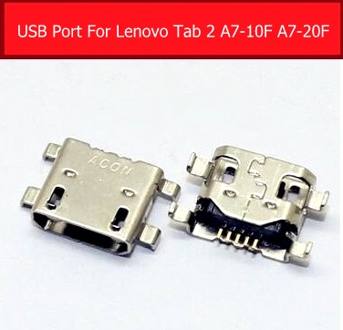 100% Genuine USB Charger Jack Socket For Lenovo TAB 2 A7-20F A7-10F Sync Date Charging Port USB Connector Slot Replacement Parts