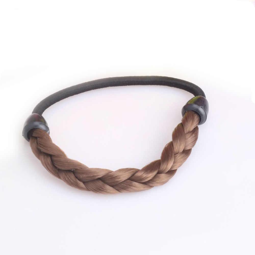 Kadın kızlar kore tarzı postiş aksesuarları halat Hairband sentetik peruk elastik saç halat şapkalar at kuyruğu tutucu saç halat