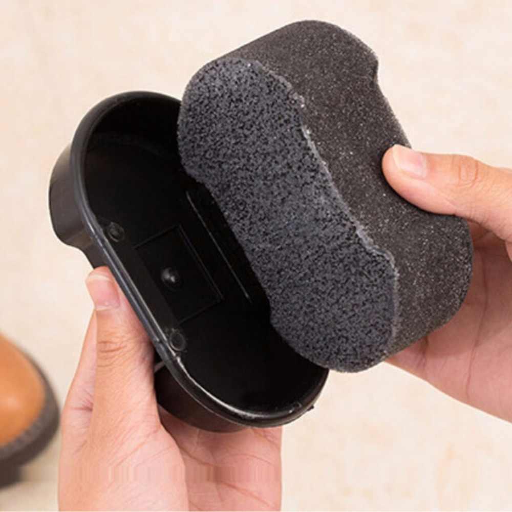 1 Pcs New Practiccal líquido De Limpeza de cera De Polimento De Couro brilhando sofá do saco de sapatos para Engraxar os Sapatos Esponja polidor de Sapato Bota Escova Cleaner
