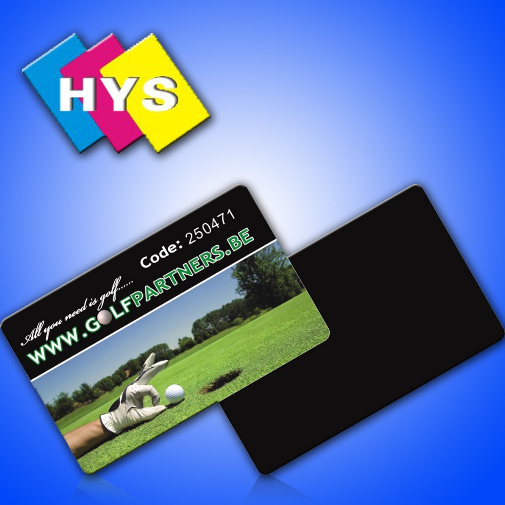 Impresión personalizada de tarjeta de regalo de plástico y tarjeta de visita inteligente