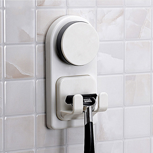 Home Storage Hooks Plastic Sucker Razor Holder Towels Bags Shower Ball  Storage Hook Wall Door Bathroom