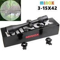 Новый Минокс 3 15X42 оптический прицел Военные Использовать Открытый Охота Сфера Air снайперской винтовки Нарезное оружие аксессуары
