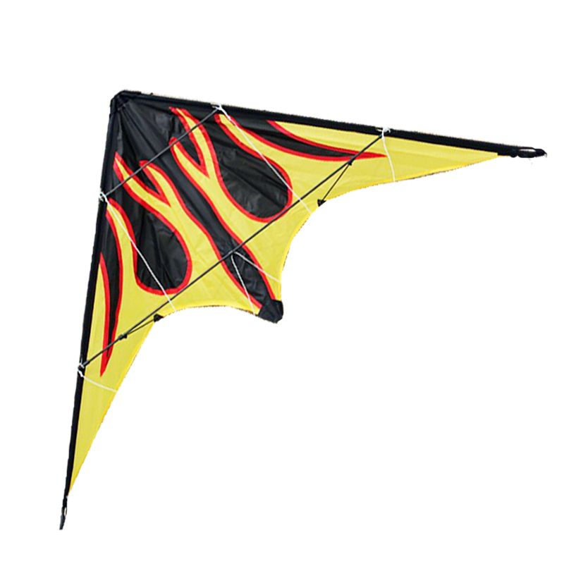 купить Free Shipping 2015 NEW Outdoor Fun Sports 1.6m Dual Line Flame Stunt Kite With Handle And Line Good Flying Factory Outlet по цене 1155.28 рублей