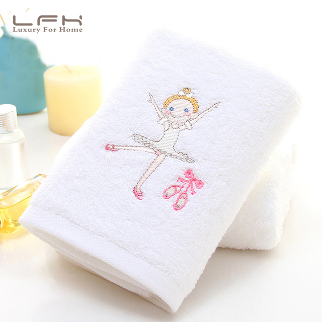 LFH Five-star hotel white ballet girl cotton towel soft thickening increase cotton lovers large towel wholesale