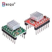 BIQU 5 pcs A4988 step sürücü modeli + ısı emici yüksek kaliteli ithal cips A4988 sürücü modeli uyumlu rampalari 1.4 mega 2560