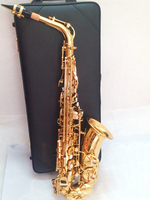 Quality Saxophone Alto Sax YAS 62 EX Professional E Flat Gold Saxofone Top Musical Instruments