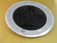 כרום שחור נחש קוברה עבור svt shelby gt500 gt 500 trunk סמל תג מדבקה