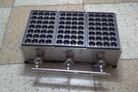 Бесплатная мм Доставка 40 мм Размеры отверстие газа Тип 3 таблички нержавеющая сталь машина для приготовления шариков из осьминога Takoyaki грил