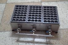 Бесплатная мм Доставка 40 мм Размеры отверстие газа Тип 3 таблички нержавеющая сталь машина для приготовления шариков из осьминога Takoyaki гриль