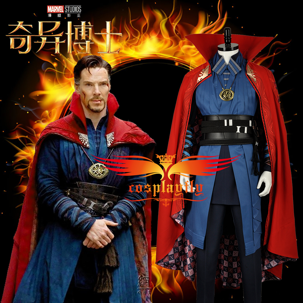 High Quality Doctor Strange Dr Strange Steve Superhero Battle Christmas Outfit Cosplay Costume For Adult New