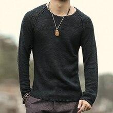 Männer oansatz cashmere-wolle pullover gemischt pullover herren-pullover männer rundhals strickpullover pullover wollpullover grundlegende