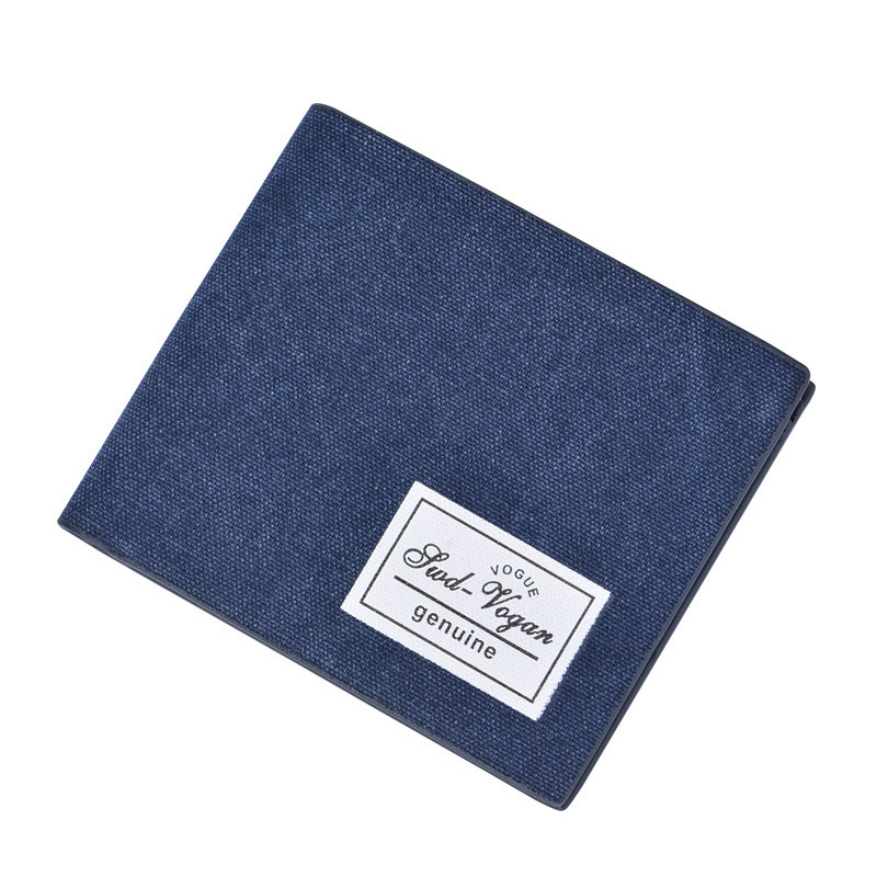 New Canvas Bifold Short Wallet For Men Casual Solid Credit Card Holder Purse Ultra Thin Men's Wallets