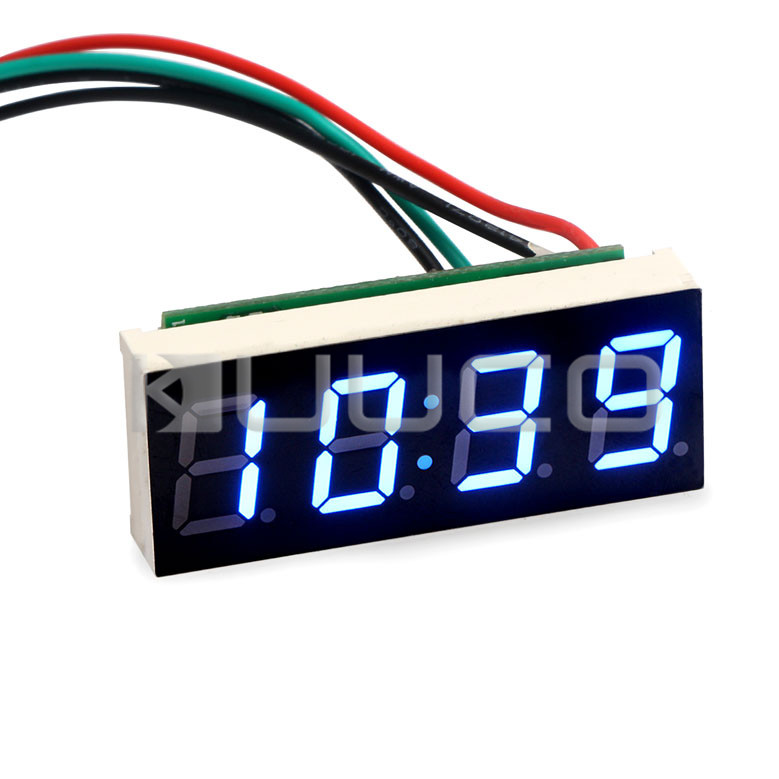 Electronic Clock/Digital Clock Yellow Led Digital Meter/Panel Meter Adjustable Car Clock DC12V 24V DIY Time Monitor/Tester 24 hour digital clock yellow led display car clock digital meter panel meter adjustable clock dc 12v 24v diy time monitor tester
