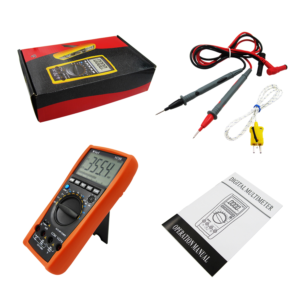 1sets VC99 3 6/7 Auto range digital multimeter have bag better FLUKE 17B+