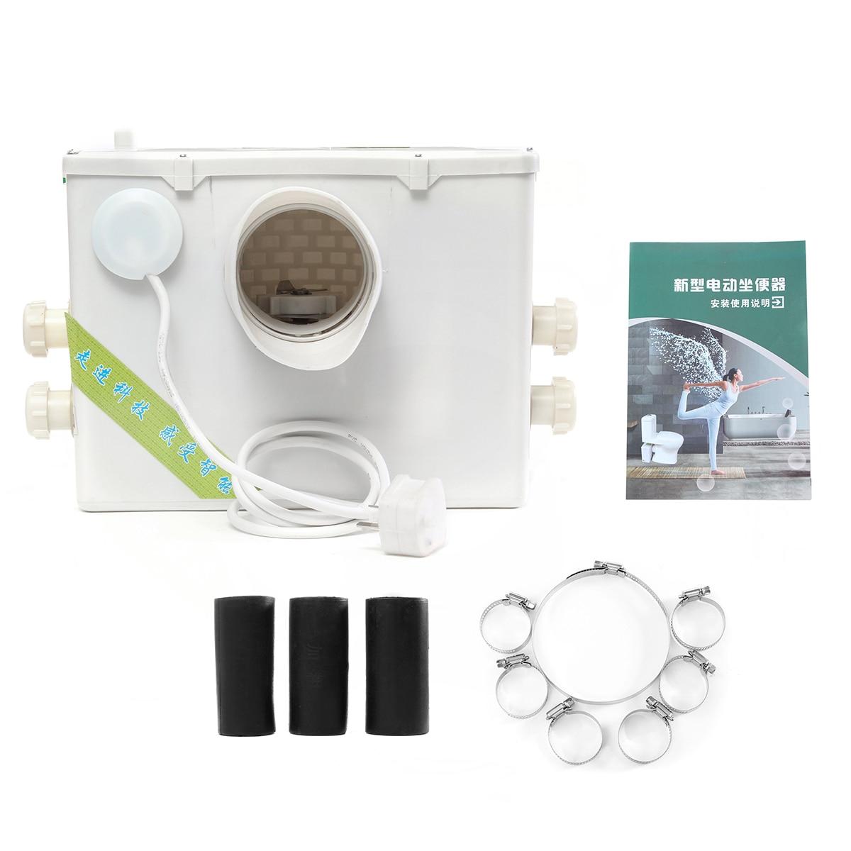 400 Вт 2500л/ч многовпускной горизонтальный мацератор утилизация насос блок туалет раковина душ полностью автоматический для ванной комнаты