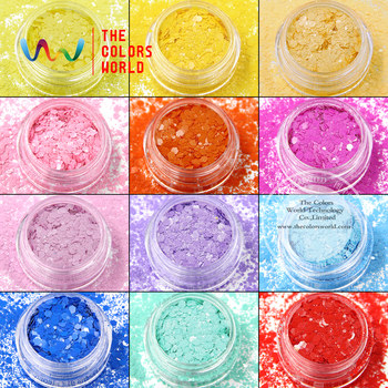 TCT-025 Mix Color Hexagon Shapes Solvent Resistant Glitter ForNail Art Decoration Nail Gel Nail Polish Makeup And DIY Decoration 1
