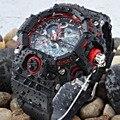 Топ EPOZZ Мужчины Цифровые Спортивные Часы Мужчины Резинкой водонепроницаемый 50 М Плавание Часы Большой Циферблат Сигнализации Хронограф heren horloge E2811