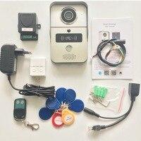 Wi Fi видео дверной звонок беспроводной домофон Поддержка IOS Android RFID Keyfob Доступ видео дверной телефон домофон + звонок