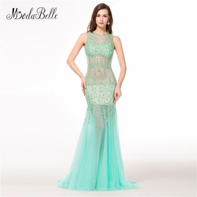 modabelle Sexy See Through Beaded Luxury Prom Dresses 2018 Real ...