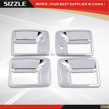 Plastic Car Door Handle Cover ABS Chrome For F250 Super Duty 1999-2015 4D Chromium Styling For South American Edition Only