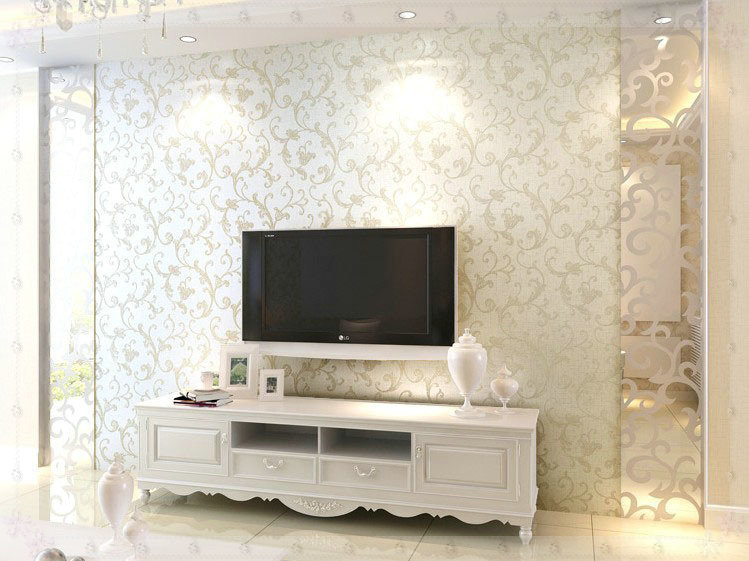 Metallic Wallpaper Bedroom - Home Design Ideas and Pictures