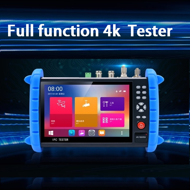 New 7-inch Network Analog Coaxial High-definition Touch Screen Breakpoint. Wire-finding, Optical Power Meter, Red Light Source,