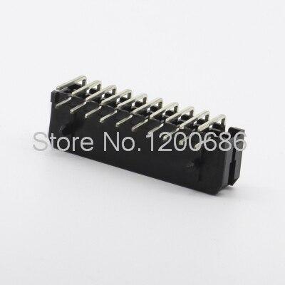 3.0mm pitch needle MX3.0-2x10PWA needle seat 90 degree curved needle 3.0MM black 20 core plastic shell