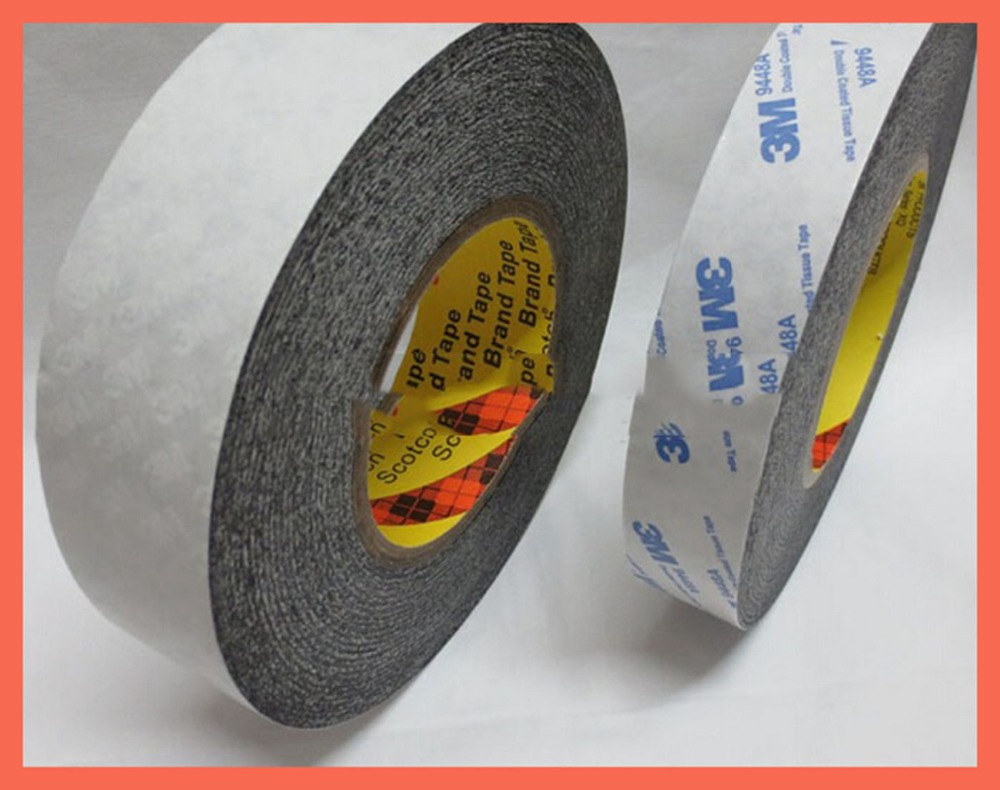 (30mm*50m),3M9448 black double sided tape acrylic adhesive possesses excellent resistance to high temperature, paste
