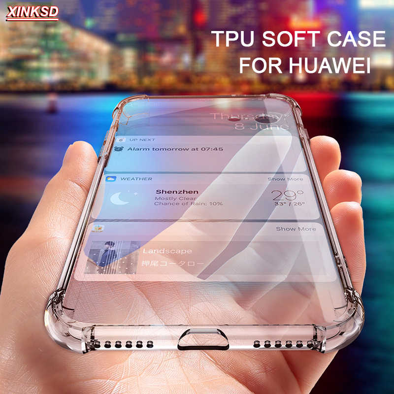 For Huawei P20 P8 P9 lite mini 2017 Nova 2 Mate 9 10 Honor C6 pro 6X 5C Phone Case Clear Shockproof Soft Silicone Transpare Case