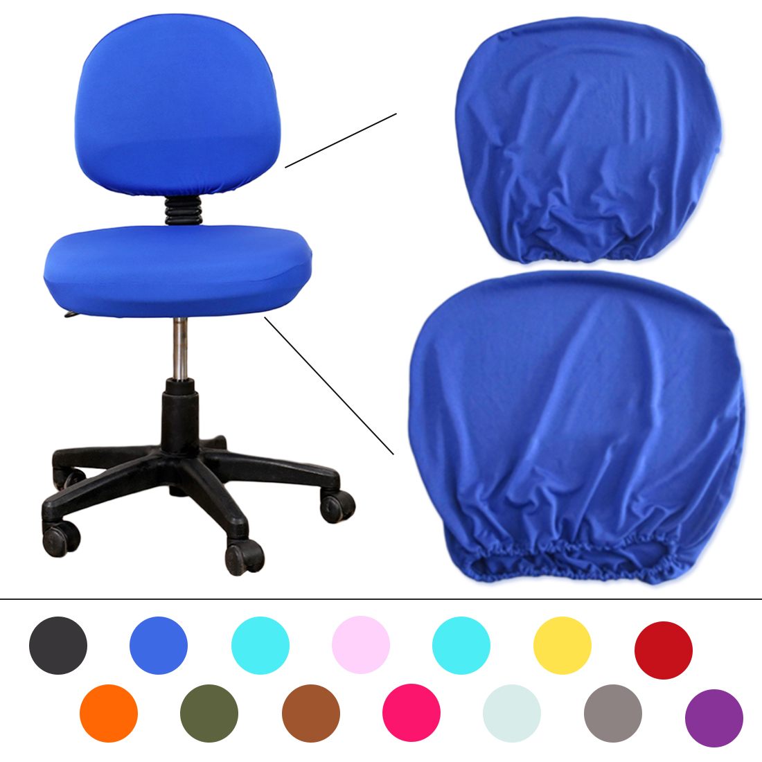 Elastic Fabric Spandex Chair Covers For Housse De Chaise Mariage Office Chair Computer Chair  14 Colors Universal Size