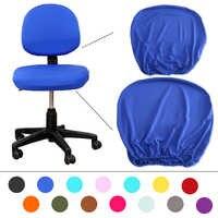 Tela elástica cubierta para silla De LICRA para Housse De Chaise Mariage silla De oficina Silla De ordenador 14 colores tamaño Universal