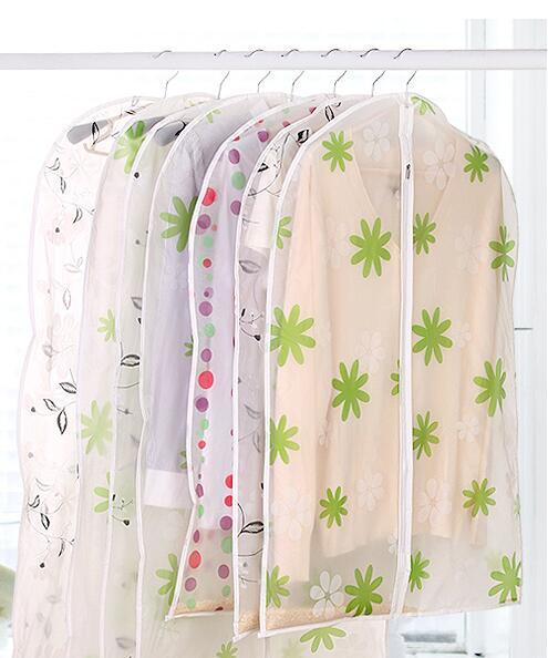 3ks vodotěsný oblek taška na šaty šaty pokrývají oděv taška oblek kryt prachotěsné sáčky prachový kryt skladovací taška organizátor