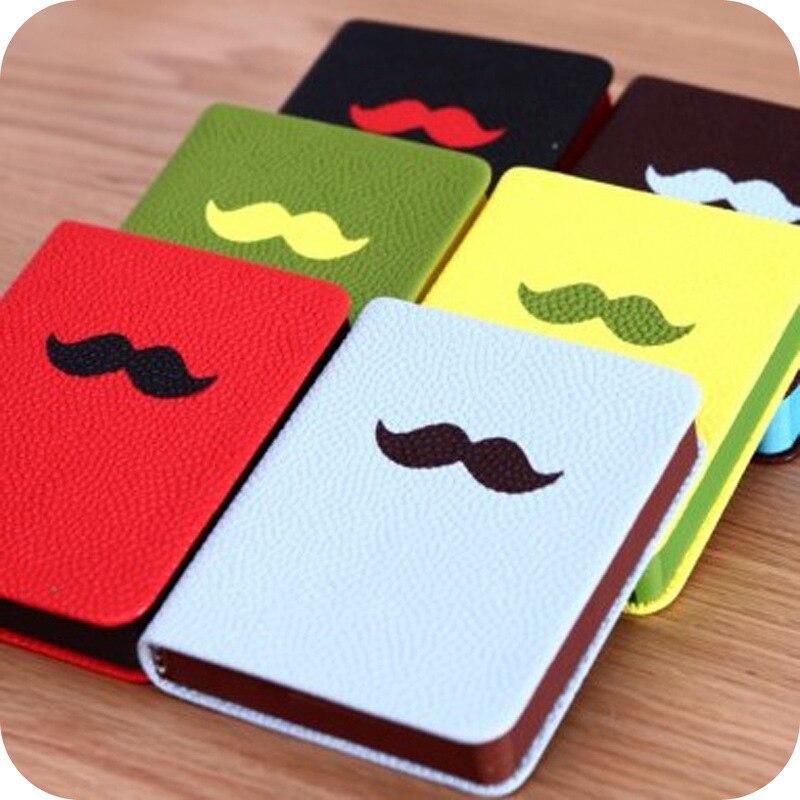 2017 15X11.5*2cm moustache travelers notebook notepad cute agenda journal diary book travel blank notebooks