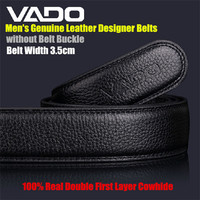 VADO Brand 3 5cm Top Men S Genuine Leather Designer Belts 100 Real Double First Layer