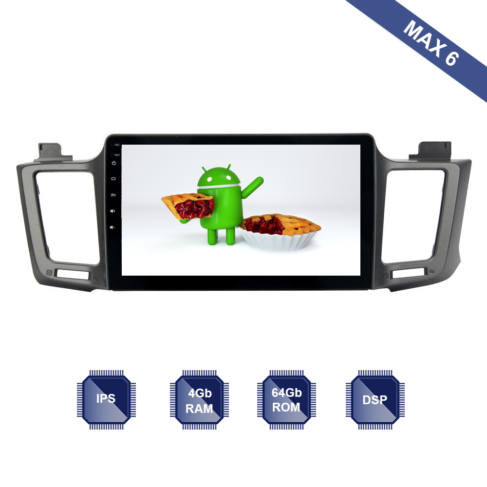 Android 9 0 Car Radio 2 Din GPS Navi for Toyota RAV4 2013 2018 PX6 Built