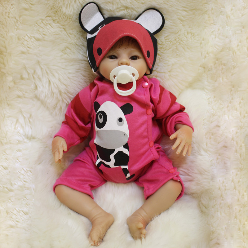 22 inch 55cm Soft Body Silicone Reborn Baby Doll Toy For Girls NewBorn Girl Baby Birthday Gift To Child Bedtime Early Education