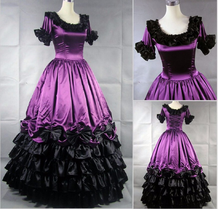 drop shipping Halloween Costumes for Women Adult Southern Victorian Dress  Ball Gown Gothic Lolita Dress Plus Size Customized b80b547d86ec