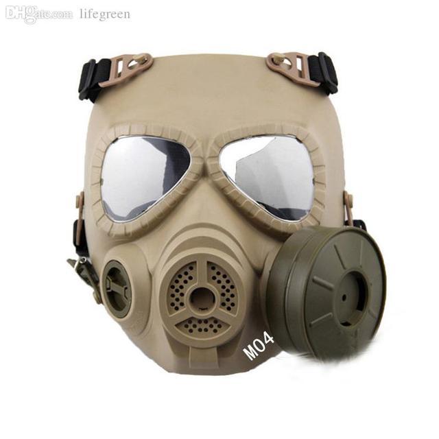 Wholesale-2015 nueva máscara de Halloween de regalo de Navidad 1 unid M04 Táctico Plástico máscara de la Resina de La Cara Llena CS Airsoft Máscaras de Gas Con Ventilador Ma
